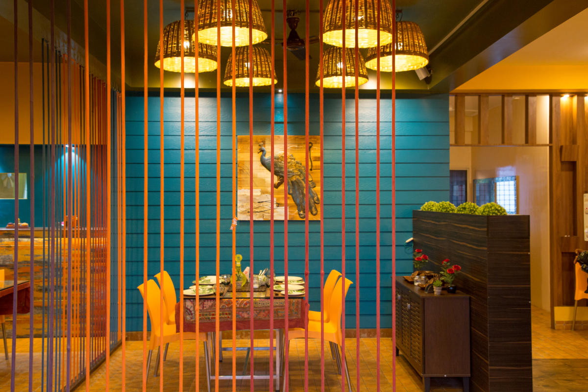 Malenadu Kitchen is done up in vibrant colours of yellow, orange and red.