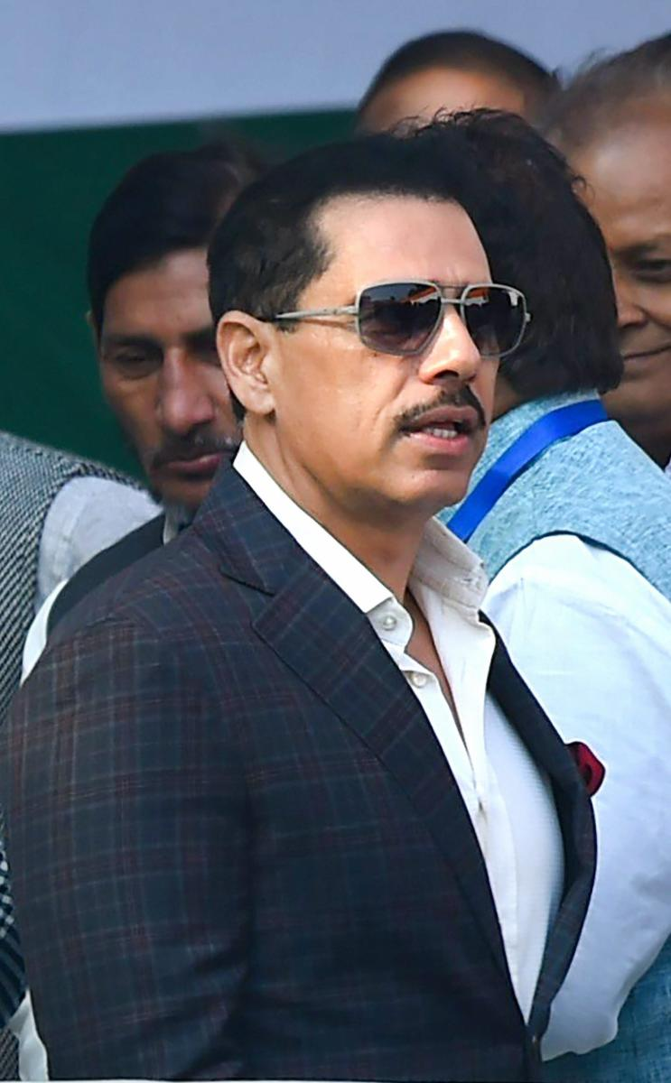 The Enforcement Directorate (ED) has summoned Robert Vadra, brother-in-law of Congress president Rahul Gandhi, in connection with its money laundering probe in a land scam case in Rajasthan's border city of Bikaner, officials said Friday. PTI file photo