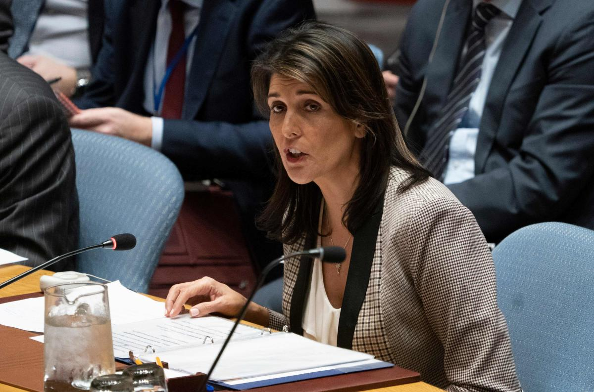 Nikki Haley championed the draft resolution. AFP file photo.