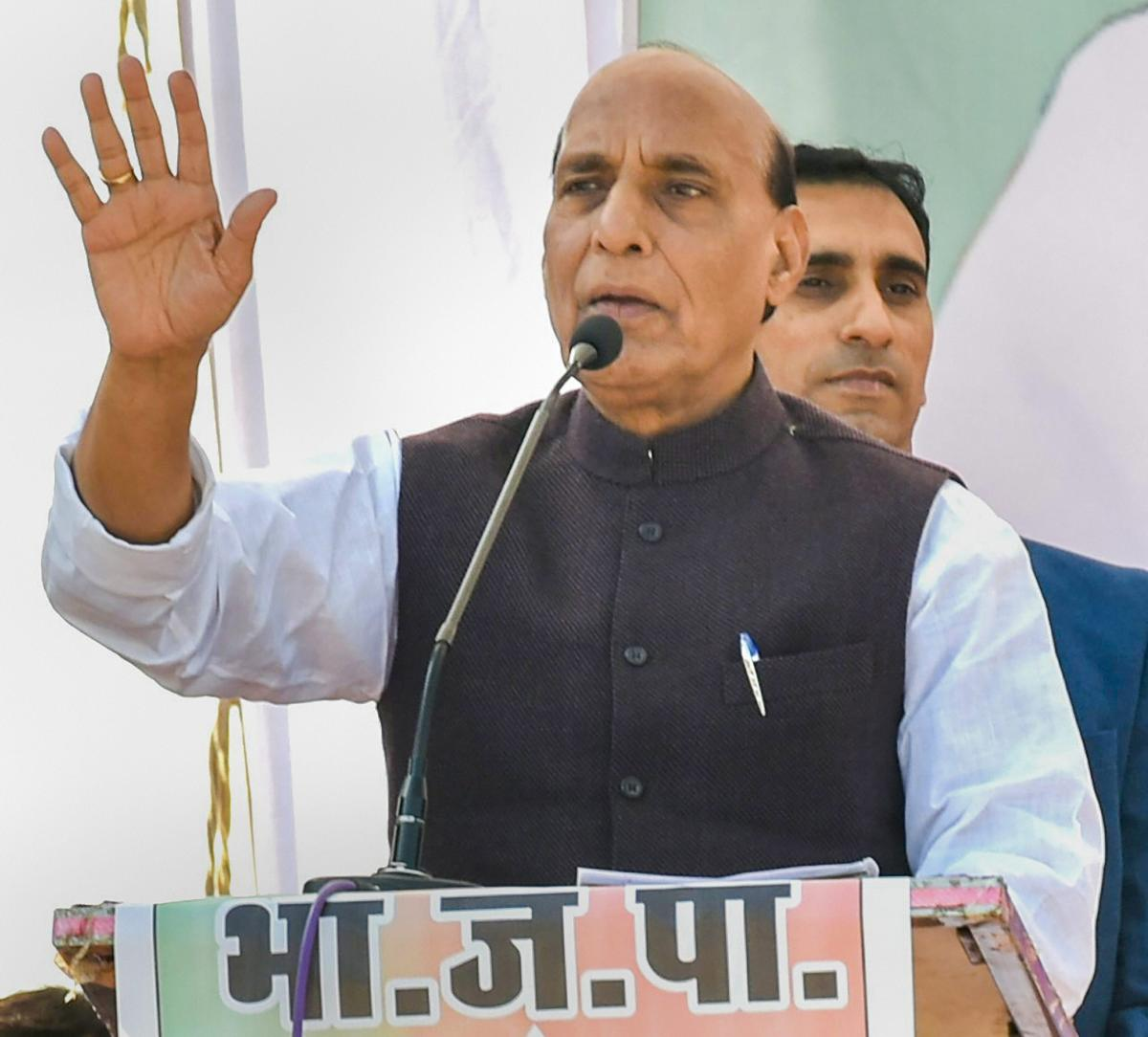 Home Minister Rajnath Singh said Pakistan could seek India's help if it cannot handle the fight against terrorism alone. PTI file photo