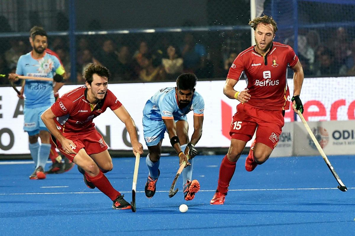 Pegged back by Alenander Hendricks' goal in the eighth minute, India made a valiant comeback after the change of ends, scoring two goals in the third and fourth quarter through Harmanpreet Singh (39th) and Simranjeet Singh (47th) to take the lead. (PTI Photo)