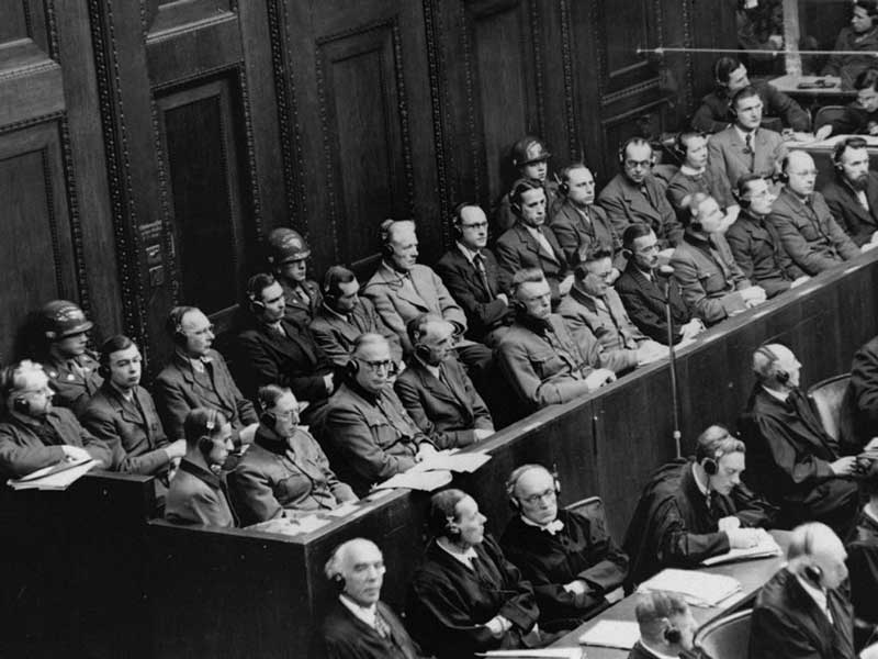 The Nuremberg trials tried several Nazis for crimes against humanity and most of the trials were concerned with the Nazi policy of 'Endlösung' or the Final Solution — the extermination of all Jews in the world. (Image: www.ushmm.org)