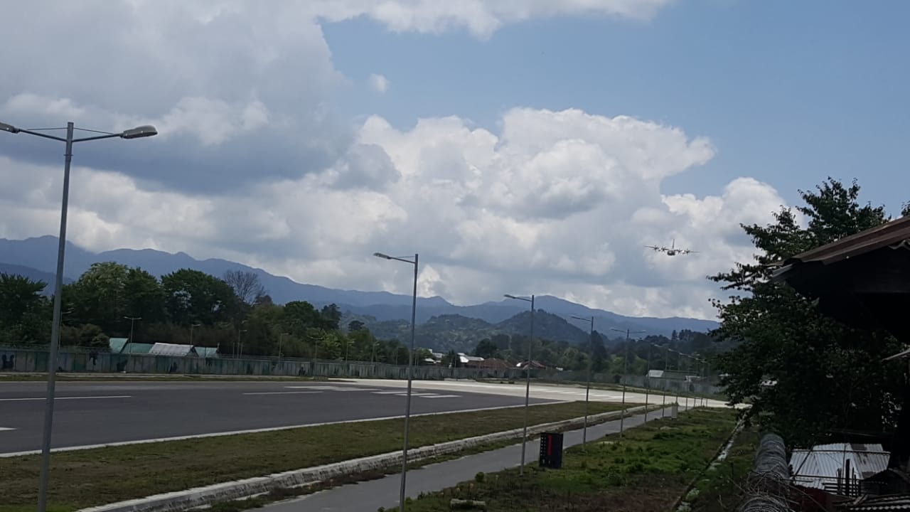 Sources in the IAF's eastern air command based in Shillong told DH that seven ALGs at Tuting, Mechuka, Along, Wallong, Ziro, Tawang and Pasighat have been upgraded and are ready for use formilitary purposes while work at another ALG in Vijaynagar was under way. (Photo credit: Taku Chatung, Ziro)