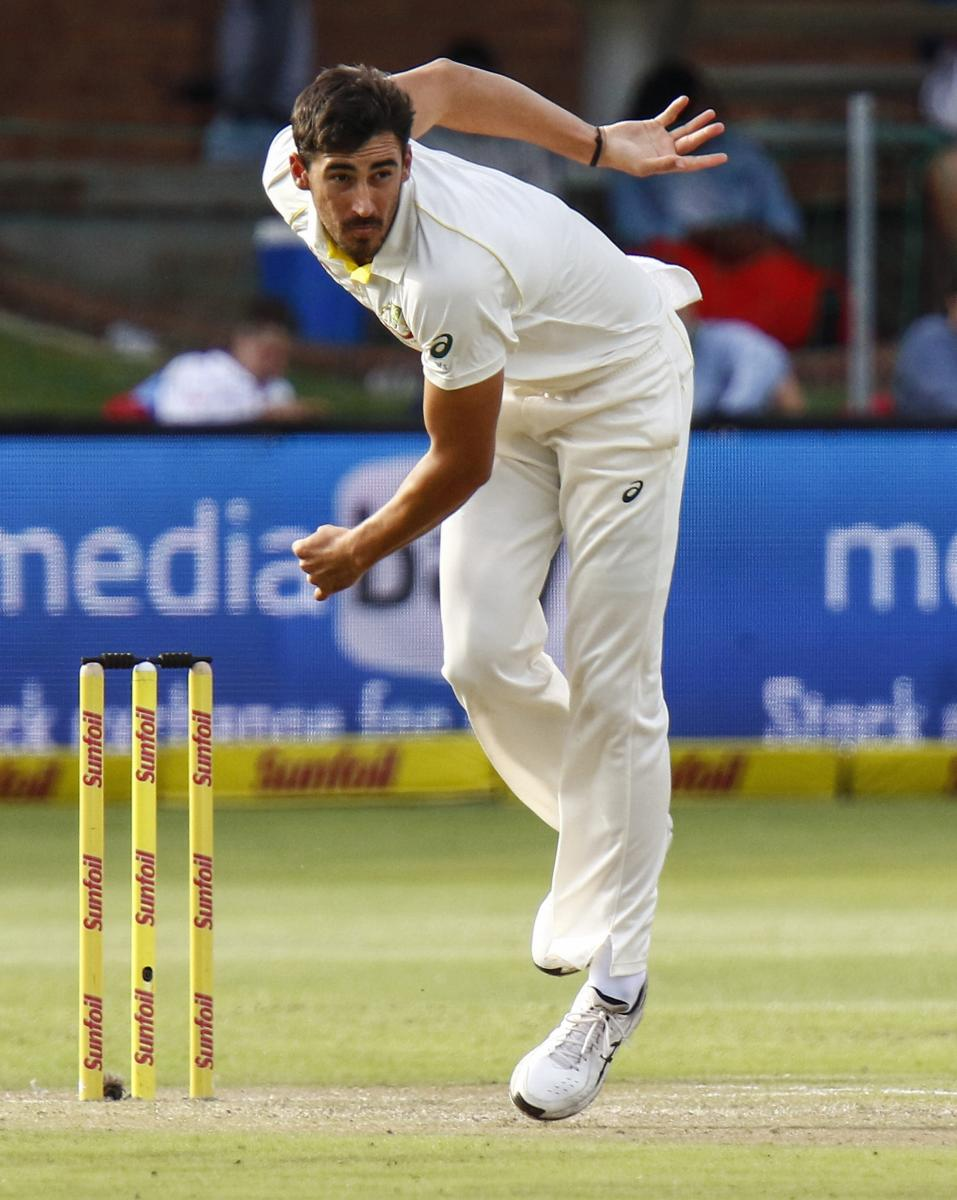 FIERY SEAMER Seasoned pacer Mitchell Starc will be looking to lead the Aussie attack with aplomb when the Test series against India kicks off on Thursday. AP/ PTI