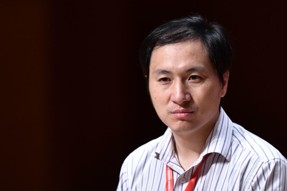 Chinese scientist He Jiankui speaks at the Second International Summit on Human Genome Editing in Hong Kong on November 28, 2018. - Organisers of a conference that has been upended by gene-edited baby revelations are holding their breath as to what He, th