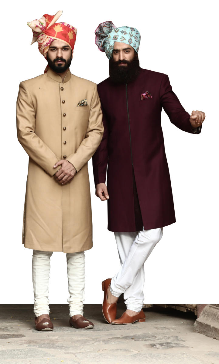 Kurtas are ideal for celebrations and family festivities, while sherwanis are for your weddings or of those close to you.