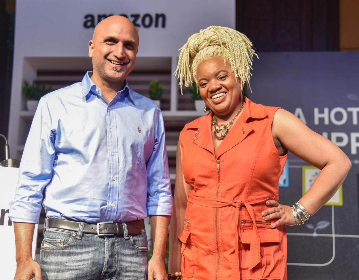 Rajeev Rastogi and Latasha Gillespie, Director, Diversity Programs amazon are seen at Amazon Women in Technology Conference AMAZE WIT at RTZ carton hotel in Bengaluru on Tuesday. Photo by S K Dinesh