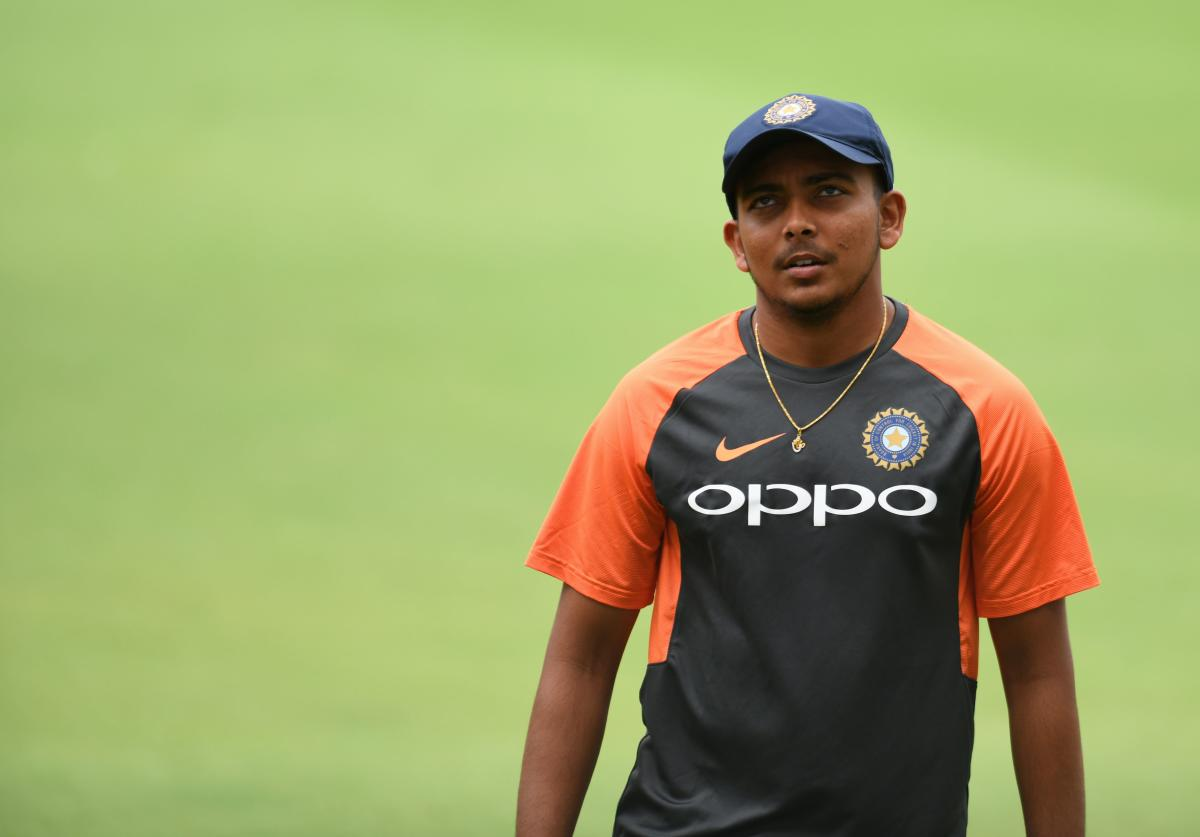 HOPEFUL: Prithvi Shaw hurt his left ankle while trying to take a catch at deep mid-wicket during a practice game last week. AFP File Photo