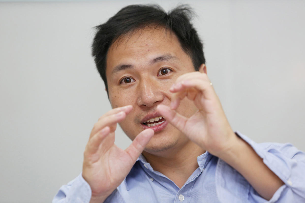Scientist He Jiankui speaks at his company Direct Genomics in Shenzhen, Guangdong province, China July 18, 2017. REUTERS
