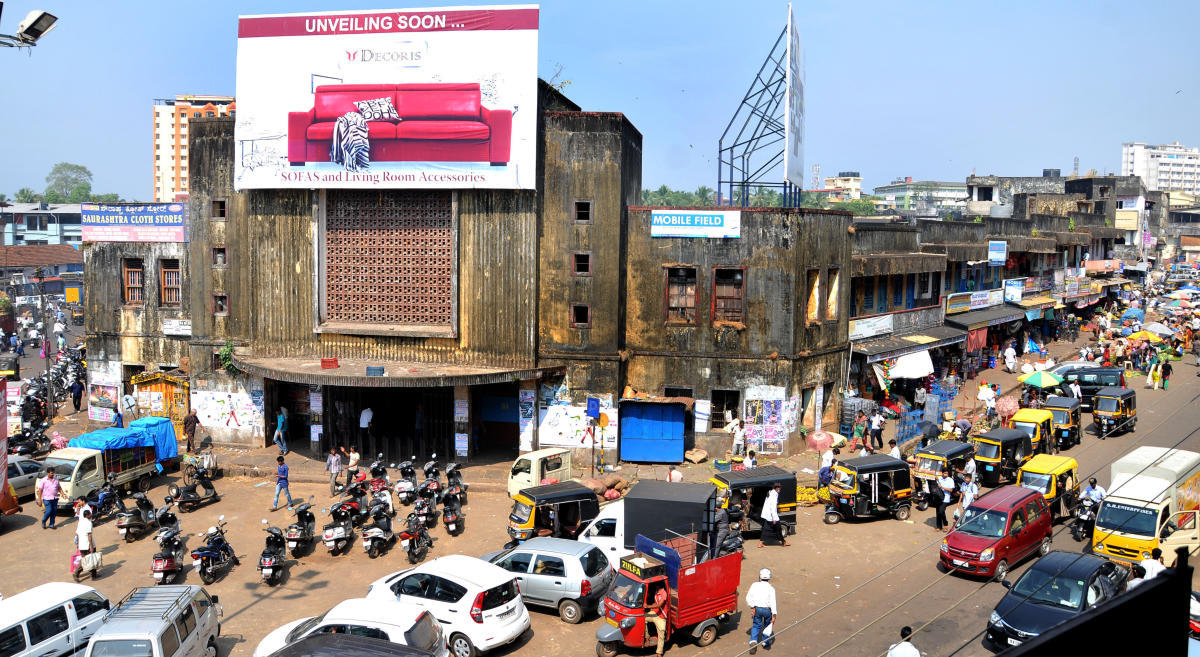 A view of the Central Market in Mangaluru.