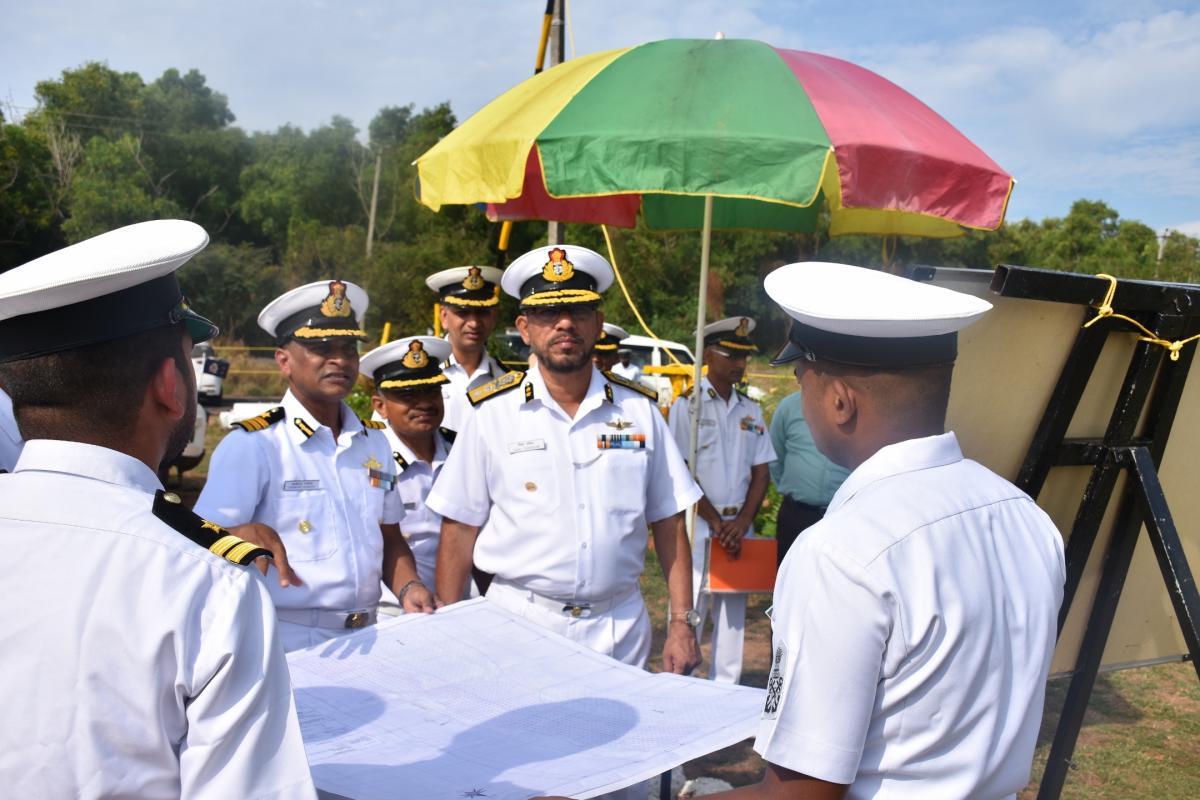 Coast Guard Region (West) Commander Inspector General V D Chafekar reviews coastal security in Karnataka, during his visit to Mangaluru.
