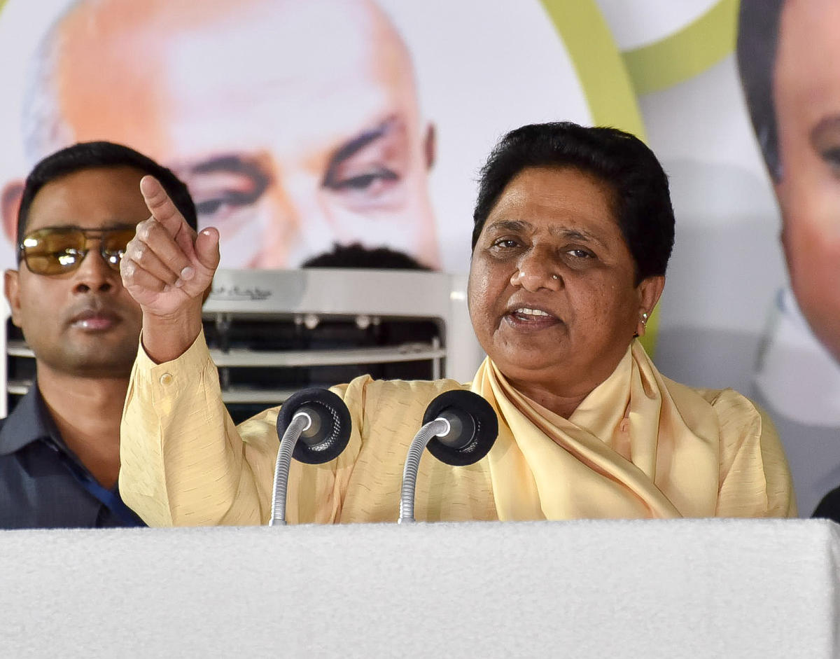 Mayawati not being in power in UP may have an impact on the voting pattern of Schedule Castes. (DH File Photo)
