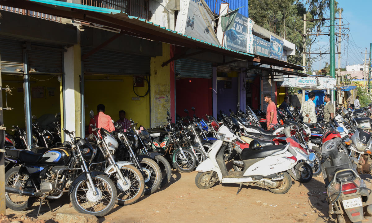 two and three-wheeler purchases were highest in Bengaluru at 23% followed by Delhi at 17%.