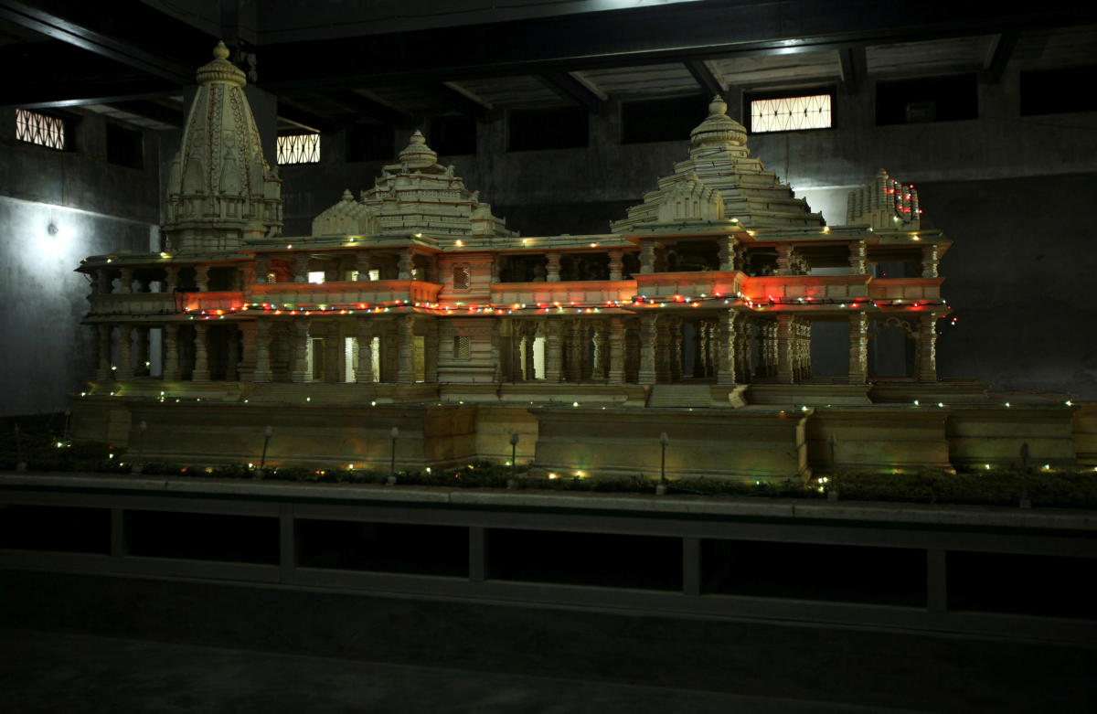 A model of a proposed Ram temple. Reuters file photo