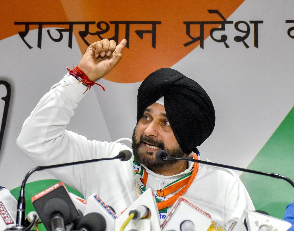 Sidhu was the Congress' star campaigner and addressed over 70 public meetings in 17 days ahead of elections in Rajasthan, Chhattisgarh, Madhya Pradesh and Telangana. (PTI File Photo)