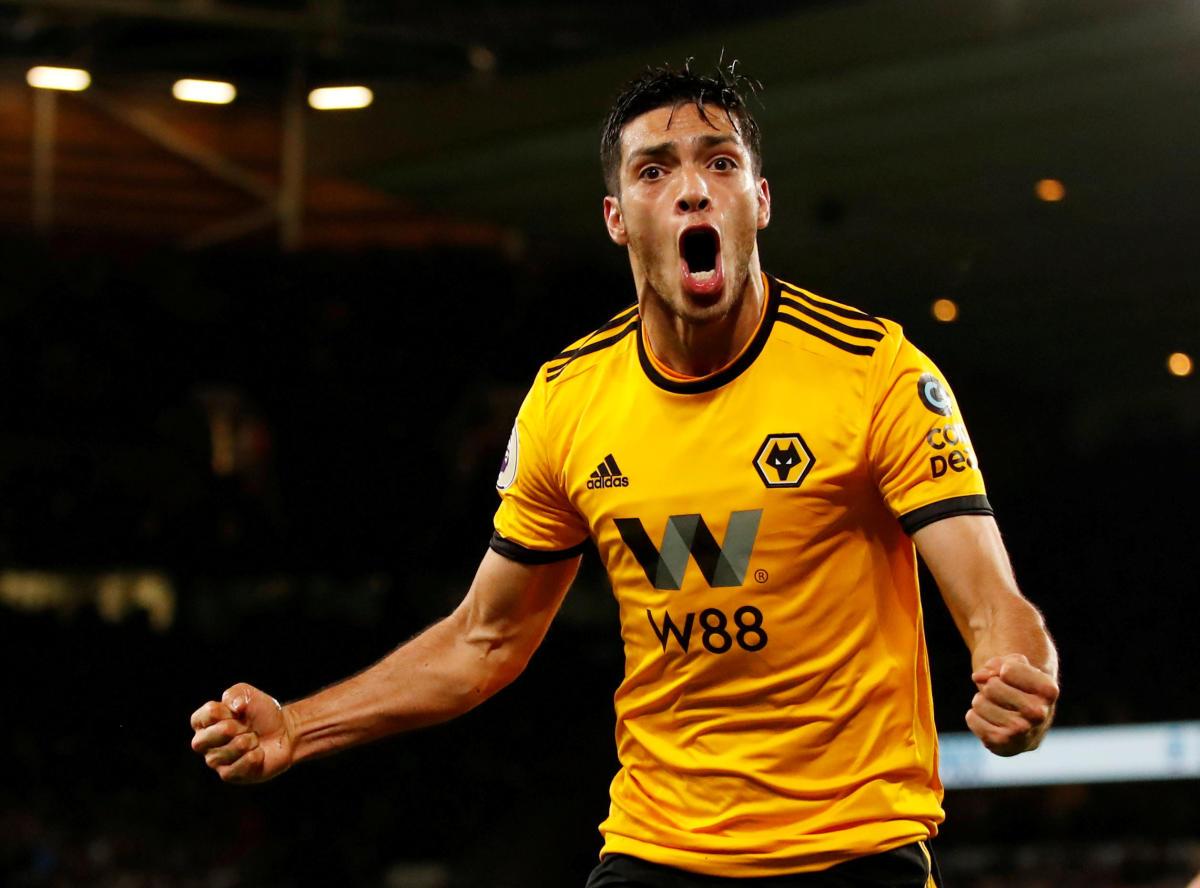 Wolverhampton Wanderers' Raul Jimenez celebrates after scoring against Chelsea on Wednesday. Reuters