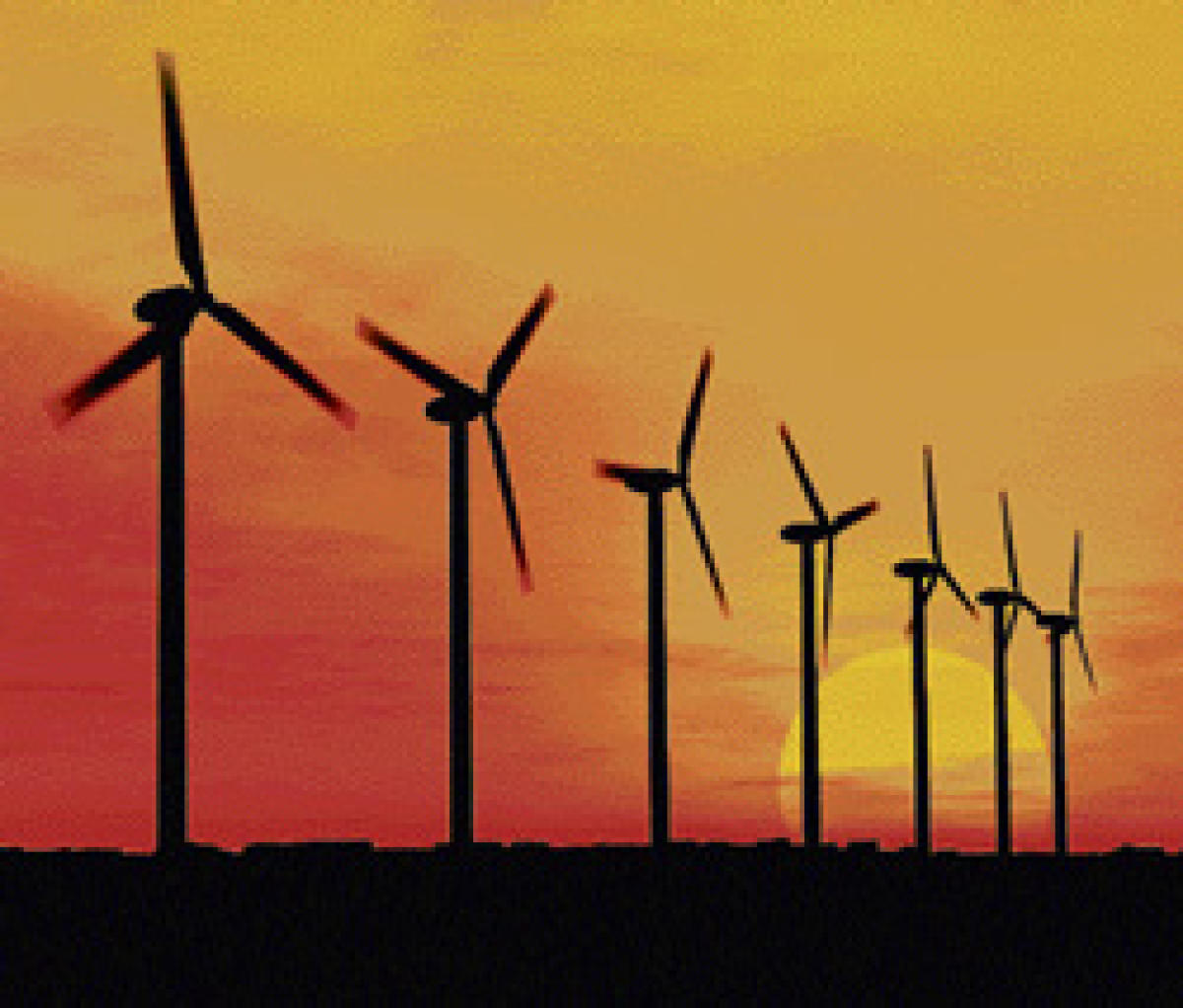 The majority of wind turbines are being built in southern and western India to best capture the winds of the summer Indian monsoon, the seasonal weather pattern then brings heavy rains and winds to the subcontinent. File photo