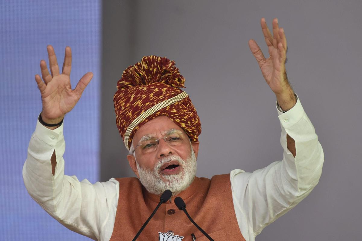 """He also alleged that poverty was not alleviated as it could hit the """"vote bank"""" of parties in the past. (PTI File Photo)"""