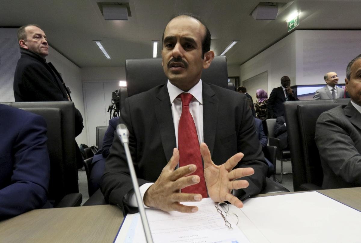 Saad Sherida Al-Kaabi Minister of State for Energy Affairs of Qatar speaks prior to the start of a meeting of the Organization of the Petroleum Exporting Countries, OPEC, at their headquarters in Vienna, Austria. AP/PTI photo.