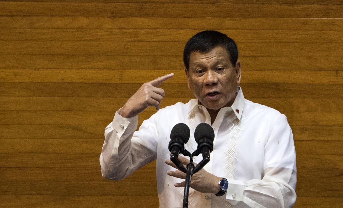 Rodrigo Duterte asked legislators to extend martial law across the nation's southern third through the end of 2019 in order to quell the continuing violence in the unrest-prone region. AFP file photo.