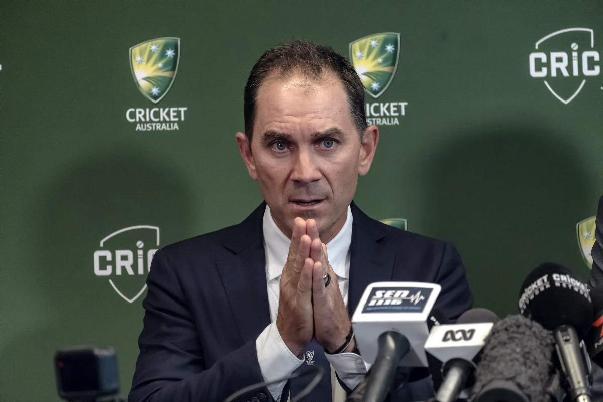 Justin Langer speaks to the media in Melbourne, Australia. Reuters File photo