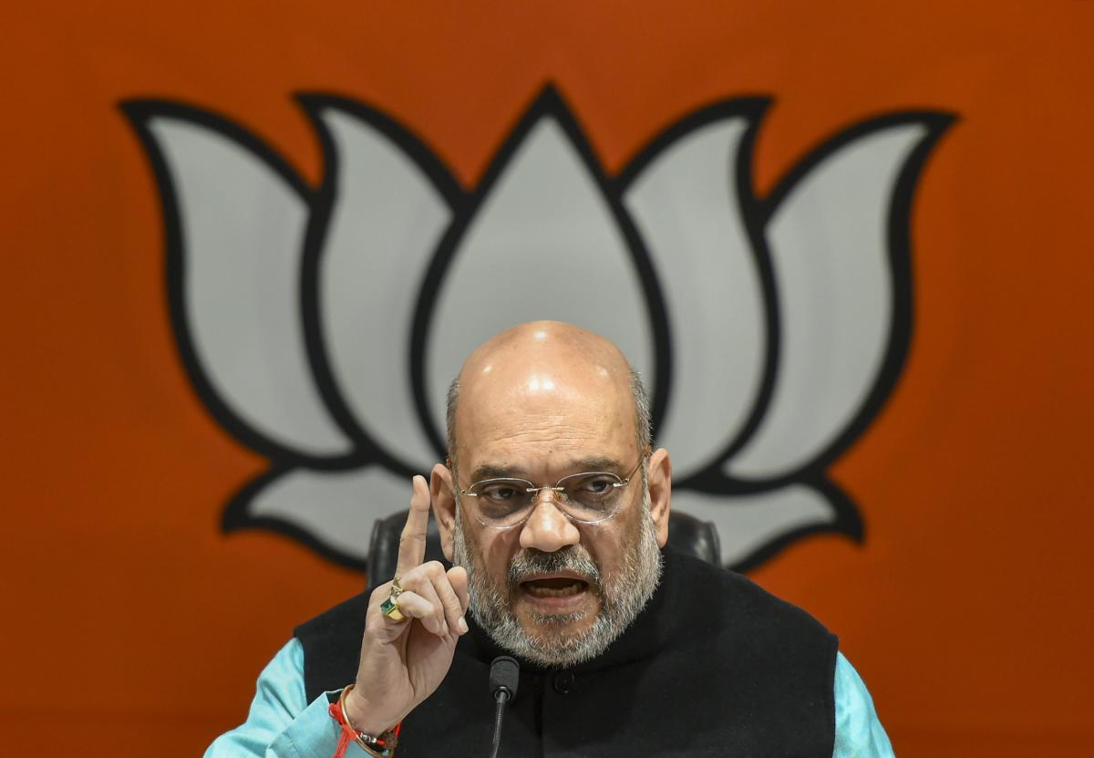 BJP National President Amit Shah addresses a press conference, in New Delhi, Friday, Dec. 07, 2018. (PTI Photo)