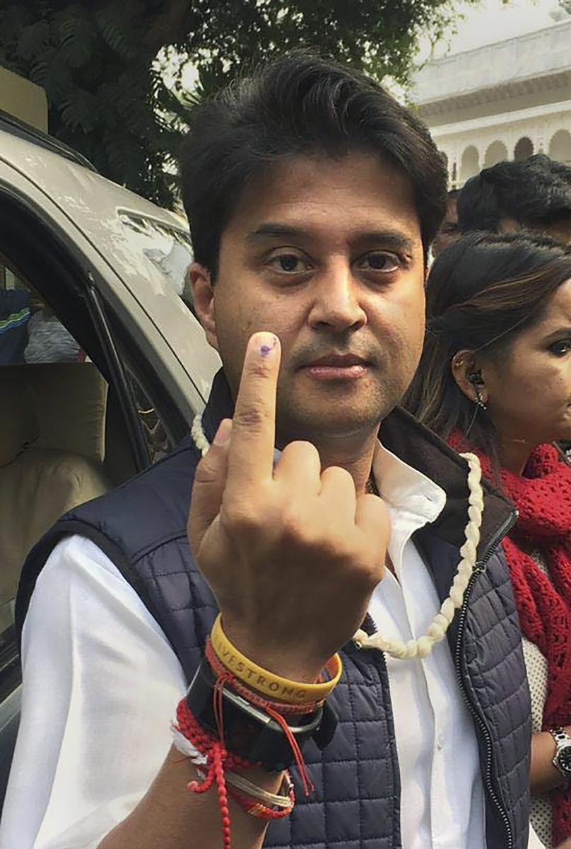 Congress leader Jyotiraditya Scindia. PTI