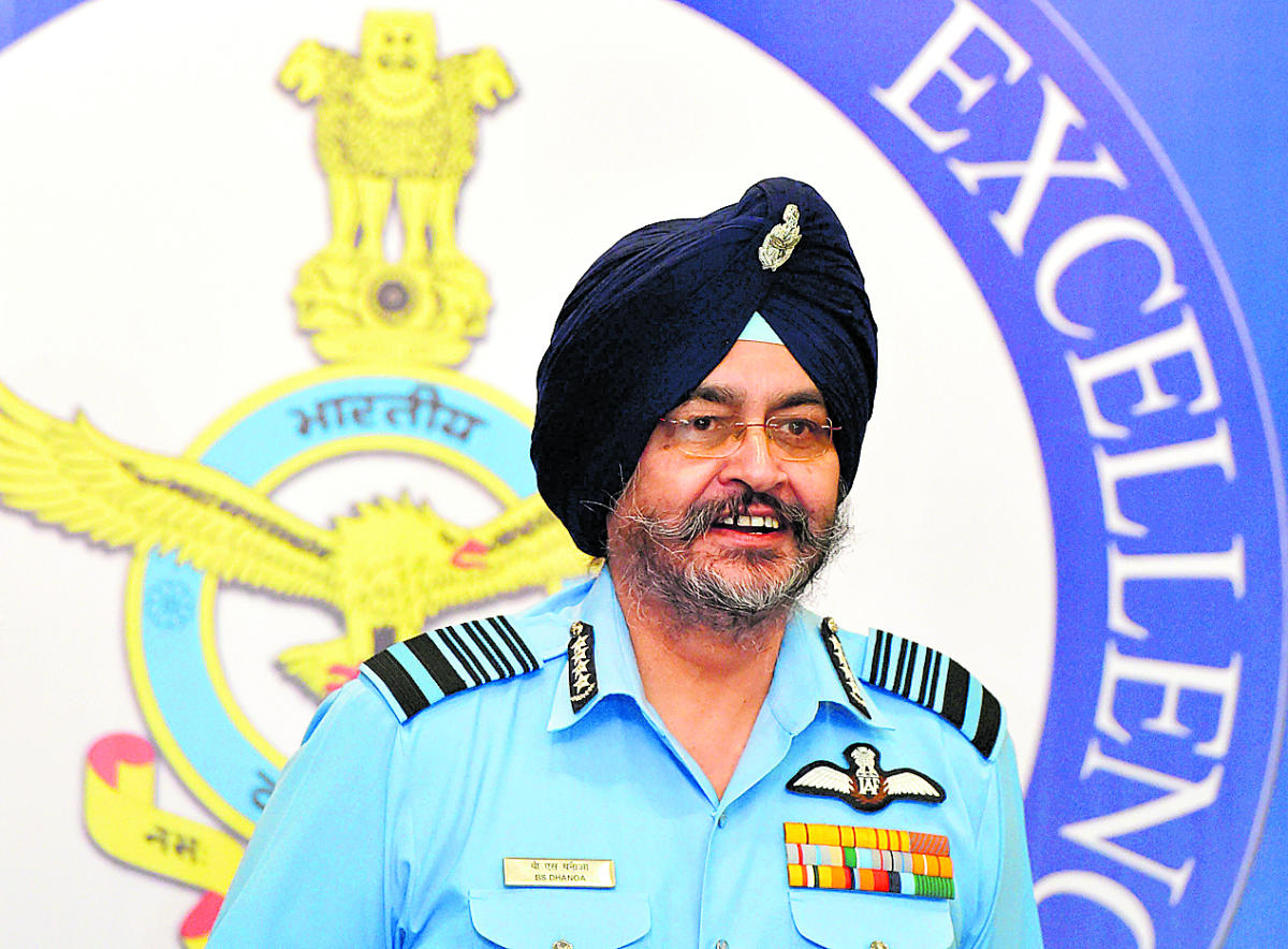 """Amid instances of air crashes, Air Marshal Dhanoa said aerospace safety is one area where the force needs to maintain a constant vigil as """"loss of aircraft in peacetime is not only expensive, but also diminishes the wartime capability"""". PTI File Photo"""