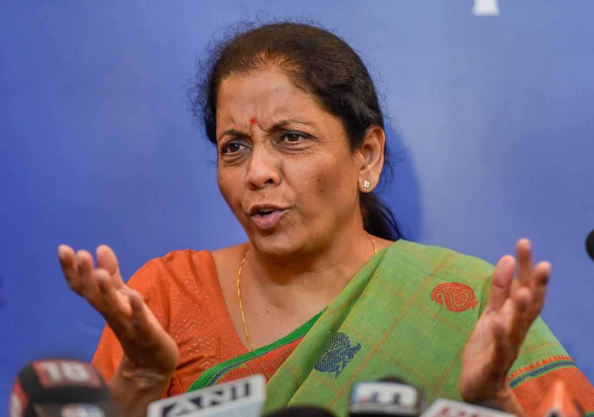 Defence Minister Nirmala Sitharaman addresses a press conference, in New Delhi, Tuesday, Sept. 18, 2018. (PTI Photo)