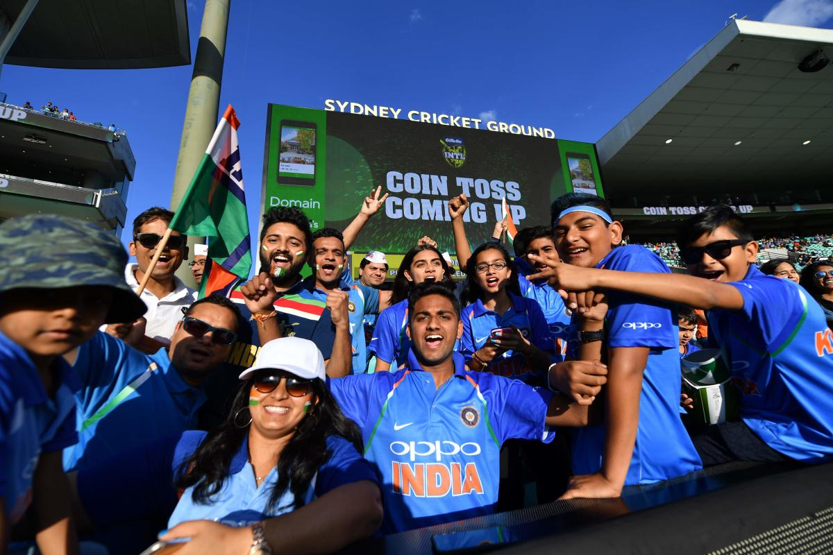 Indian supporters turned out in large numbers during the recent T20I against Australia in Sydney. AFP File Photo