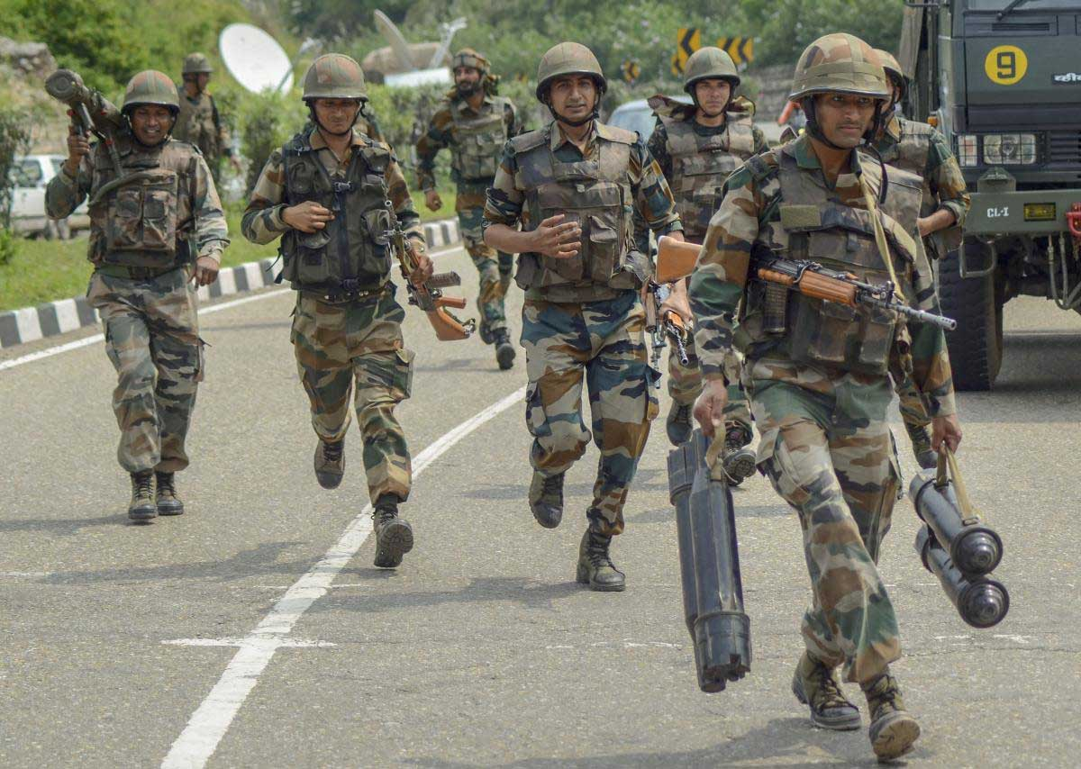 Two Pakistani militants, including the mastermind of an IED blast in which four policemen lost their lives earlier this year, were killed in an encounter with security forces in Sopore area of Baramulla district of Jammu and Kashmir, police said. PTI file photo
