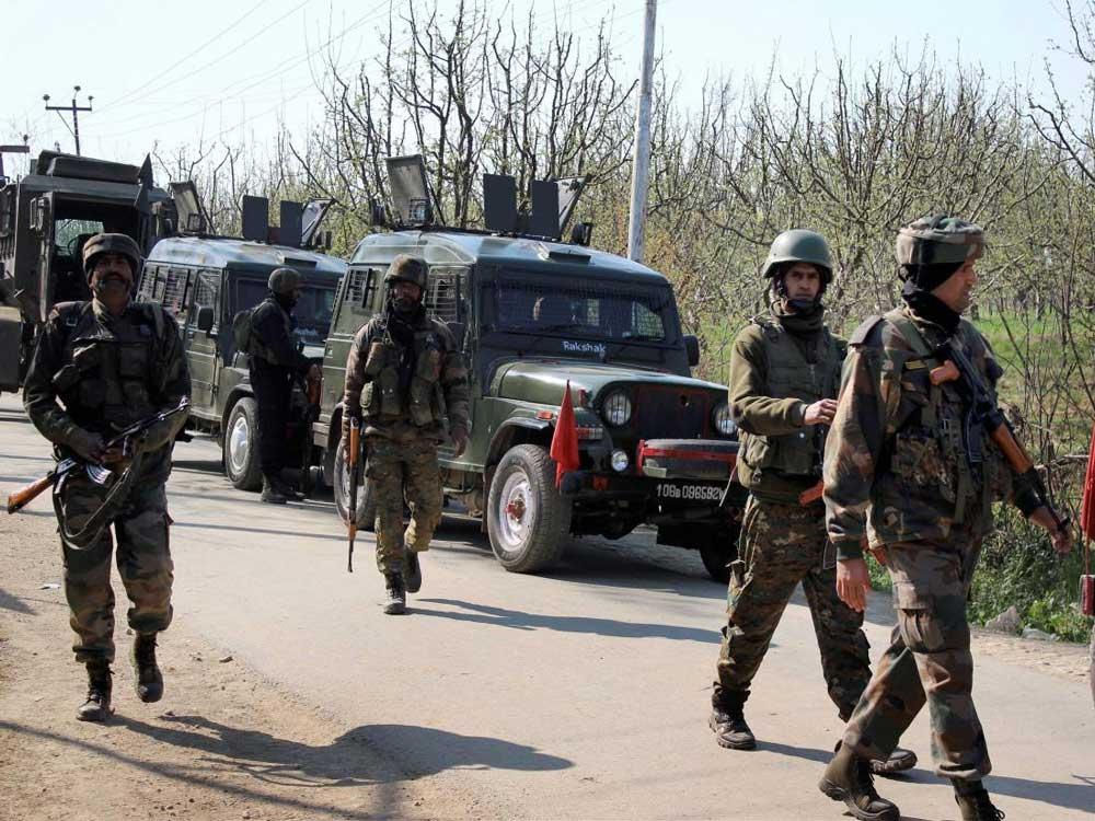 Army patrolling in Kashmir. PTI file photo.