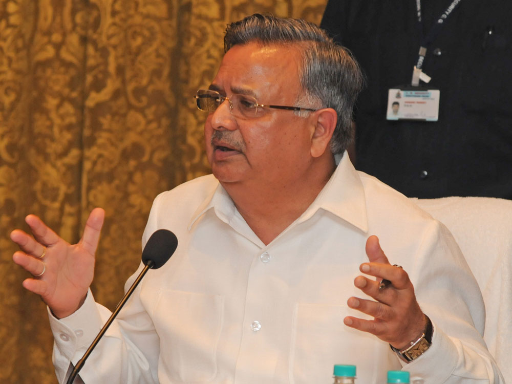 Chhatisgarh's Chief Minister, Raman Singh. PTI file photo