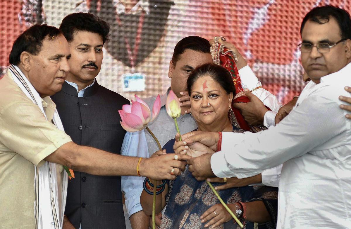 Rajasthan Chief Minister Vasundhara Raje. PTI file photo