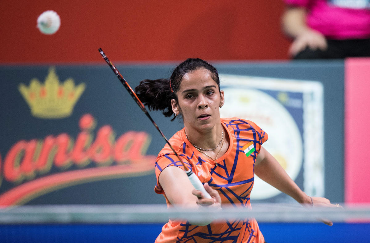 India's Saina Nehwal quelled Japan's Nozomi Okuhara 10-21, 21-14, 21-17 to enter the quarterfinal of the French Open on Thursday. REUTERS FILE PHOTO