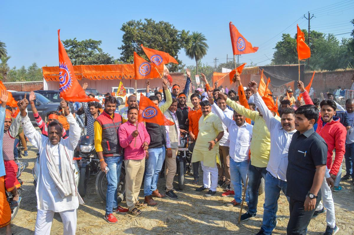 A 'dharm sansad' in Varanasi on Wednesday issued a 'dharmadesh' (religious decree) asking the political parties to ''keep away'' from the issue and leave it to the saints. Representation image