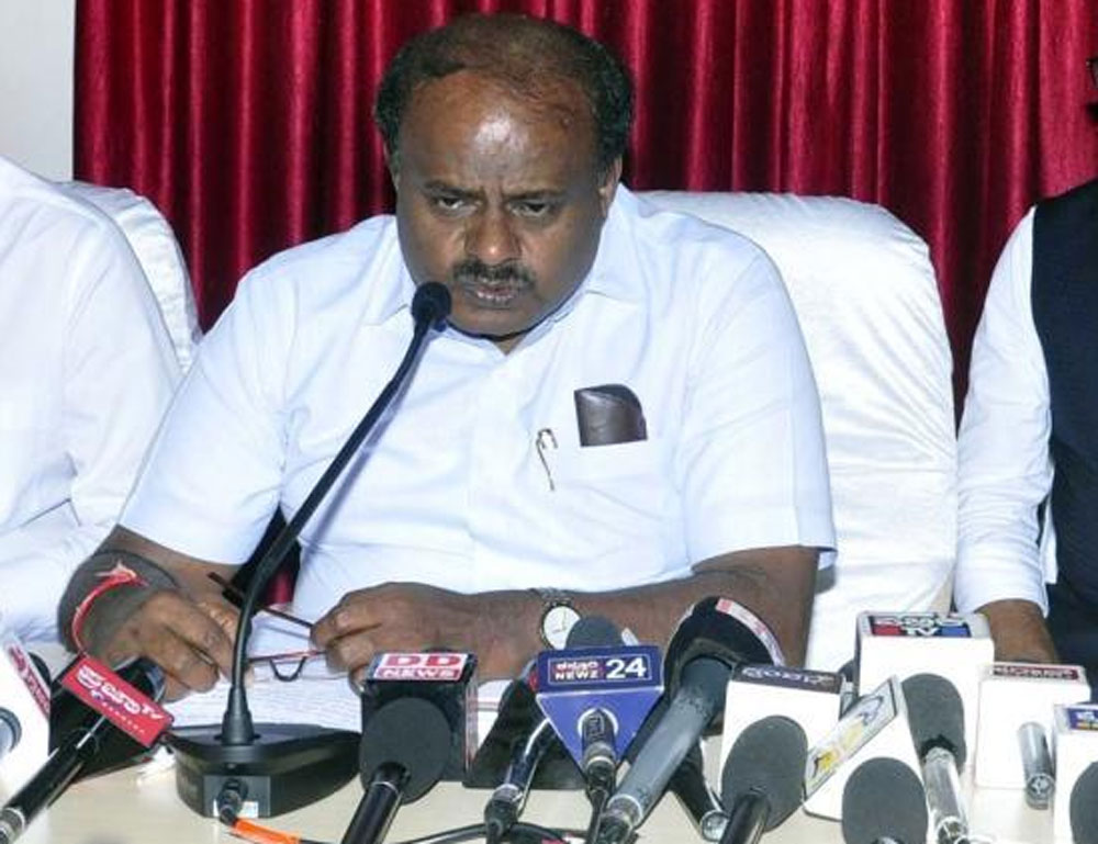 Speaking during the Gandhi Jayanti celebrations at Gandhi Bhavan, Kumaraswamy said that land for the Bhavans had already been identified in 16 districts, while the land identification process in the remaining districts would be completed in the next 15 to 20 days. (DH File Photo)