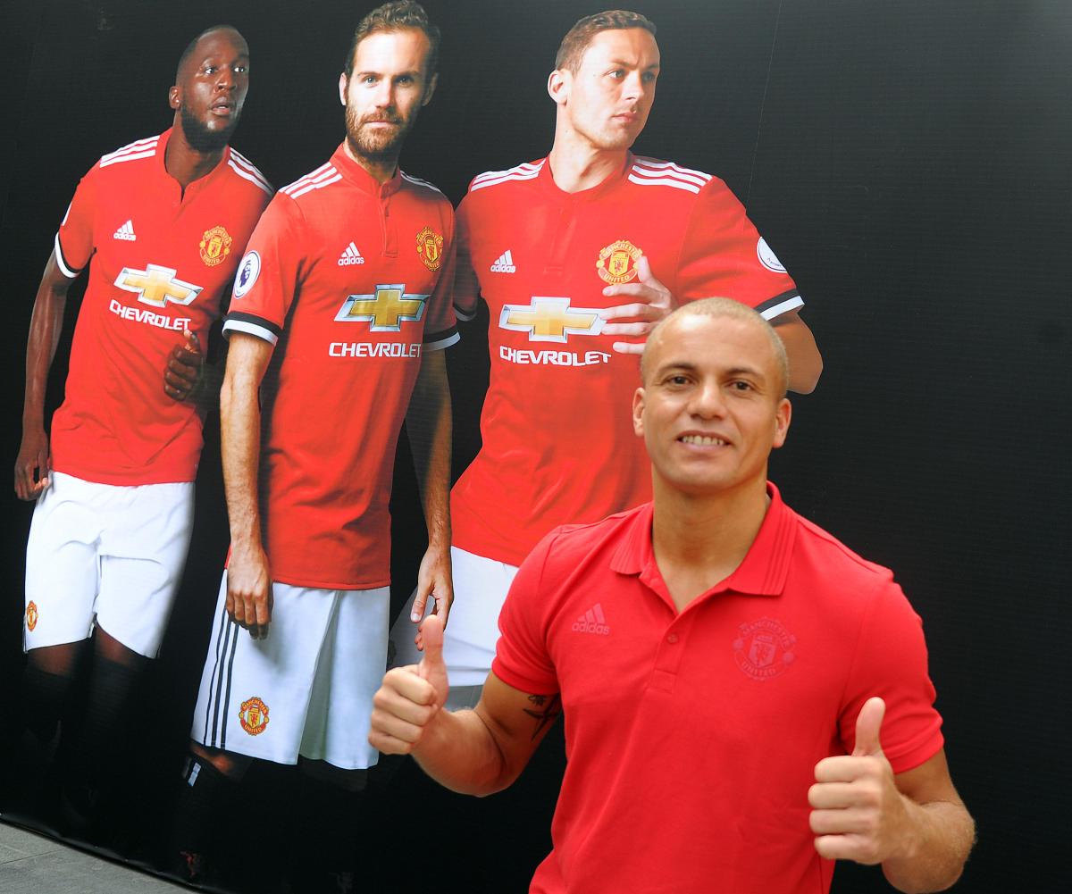 Manchester United football player Wes Brown. Photo Srikanta Sharma R.