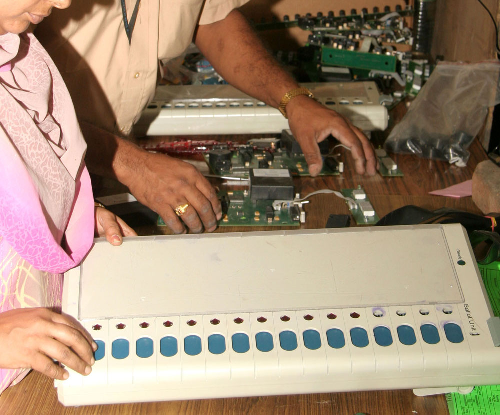 Each Koraga family is met and a demonstration of EVMs and VVPATs held exclusively. Image for Representation