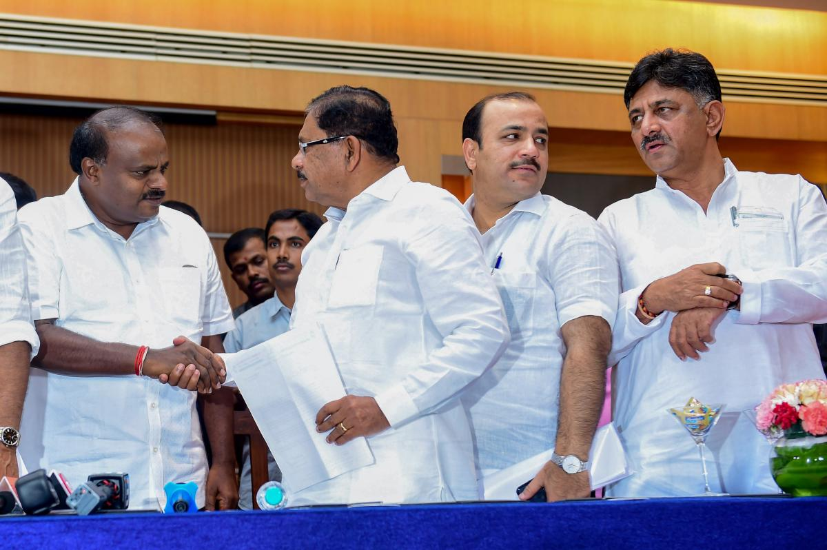 With the much-awaited expansion of the H D Kumaraswamy ministry in Karnataka expected to take place next week, aspirants from the JDS' coalition partner Congress have started lobbying for ministerial berths. PTI file photo