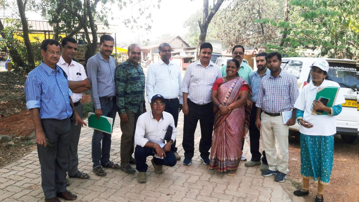 Delegation of Pollution Control Board officials from West Bengal visited the Solid and Liquid Resource Management (SLRM) unit at Vandse in Udupi.