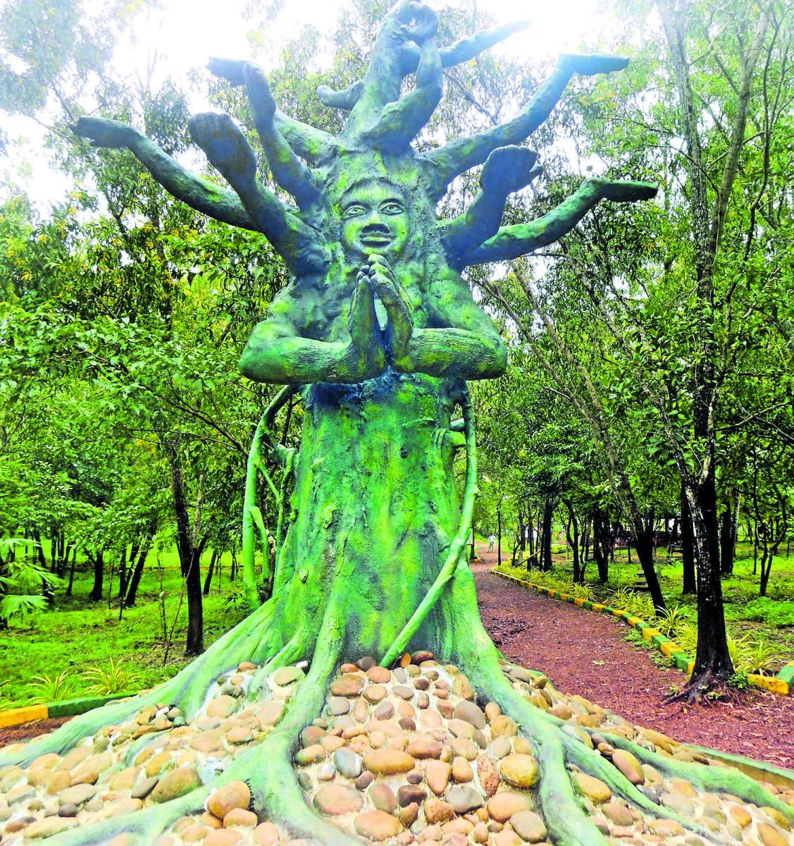 The in 'Tree Park' in Udupi.