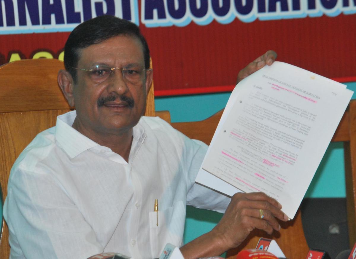 KPCC vice-president B Shivaram