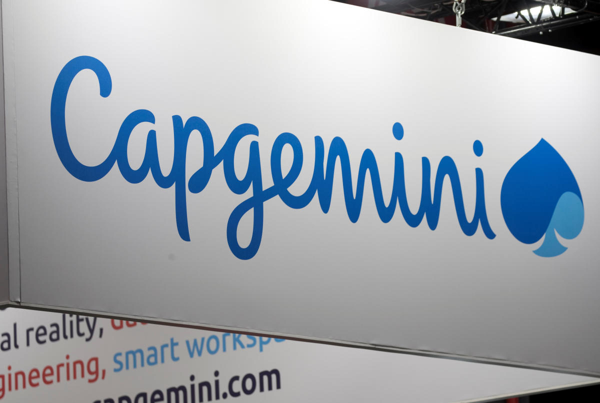 The logo of Capgemini is pictured during the Viva Tech start-up and technology summit in Paris, France, May 25, 2018. REUTERS/Charles Platiau