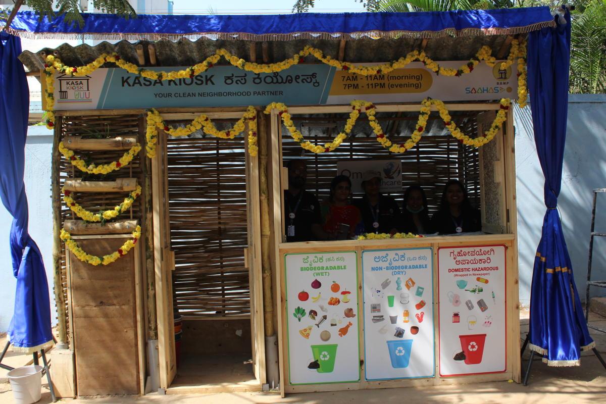 The Kasa Kiosk set up near Air Force campus on NAL Wind Tunnel Road, Murugeshpalya.