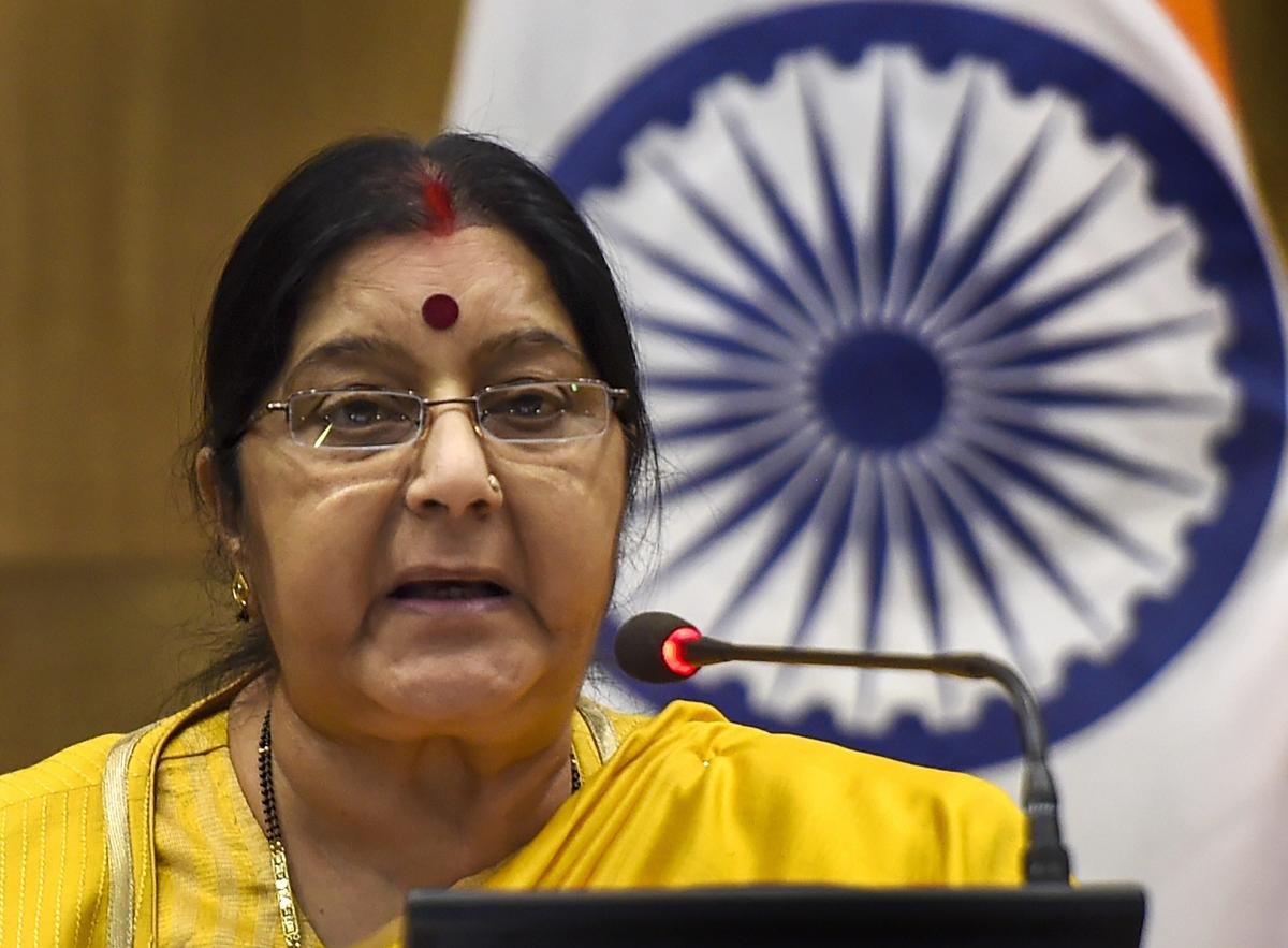 A scheduled visit by External Affairs Minister Sushma Swaraj to strife-torn Syria next week has been deferred due to escalating tension in the country. PTI file photo