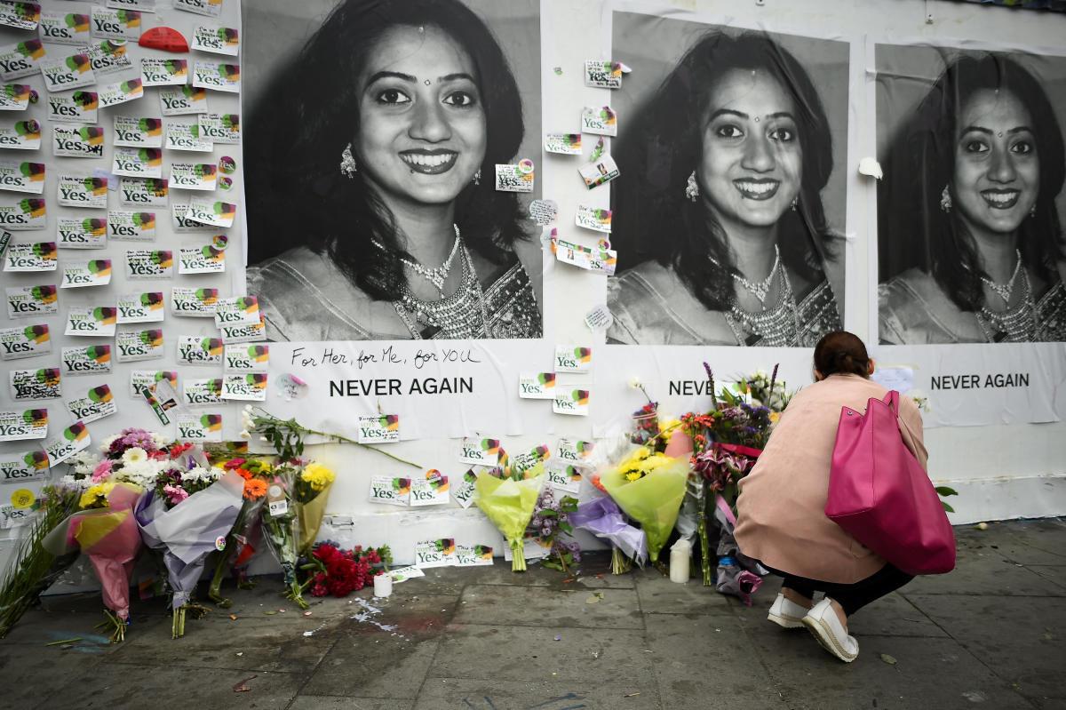 The memorial for Savita Halappanavar in Dublin. Reuters photo