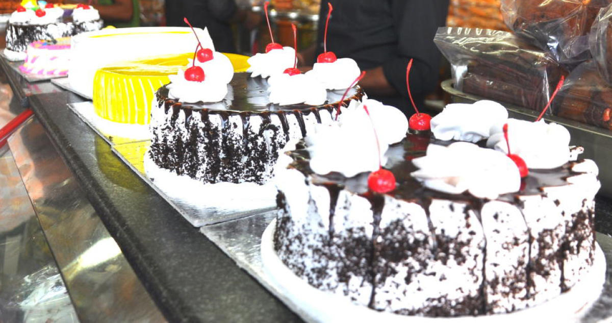 Cakes brought out for Christmas in Mangaluru.
