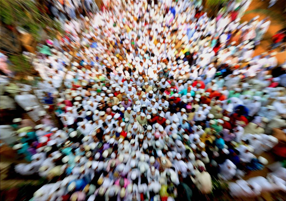 The Uttar Pradesh police's ban on offering 'namaz' (prayer) inside a park by Muslim employees of nearby companies in Noida triggered a controversy with the BJP and opposition parties trading charges and counter charges. Representational picture.