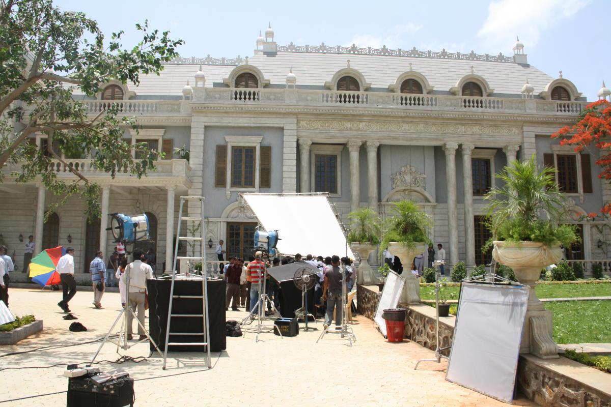 A view of the Mumbai Film City.